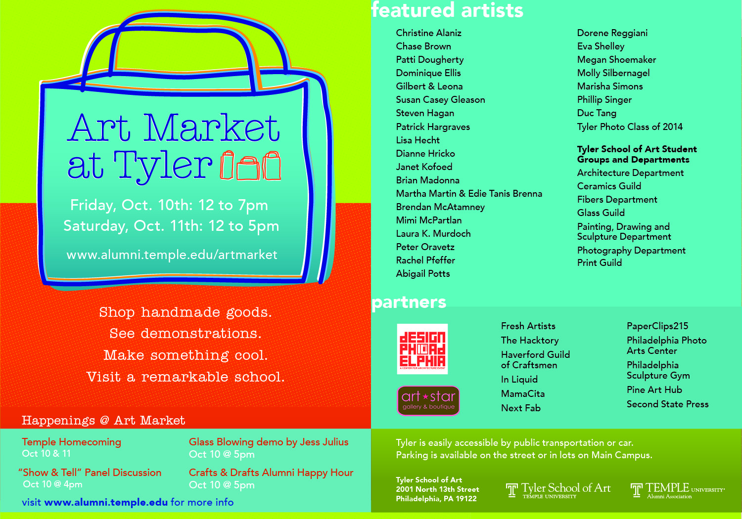 Art Market Postcard ONE PAGER